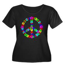 1960's E Women's Plus Size Dark Scoop Neck T-Shirt