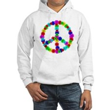 1960's Era Hippie Flower Peace S Hoodie
