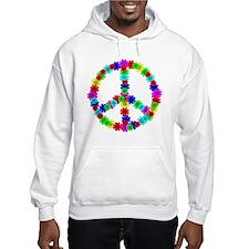 1960's Era Hippie Flower Peace S Jumper Hoody