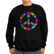 1960's Era Hippie Flower Peace S Sweatshirt