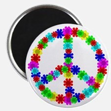 1960's Era Hippie Flower Peace Sign Magnet