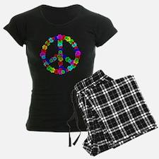 1960's Era Hippie Flower Pea Pajamas