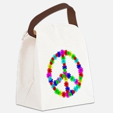 1960's Era Hippie Flower Peace Si Canvas Lunch Bag