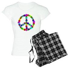 1960's Era Hippie Flower Pe Pajamas