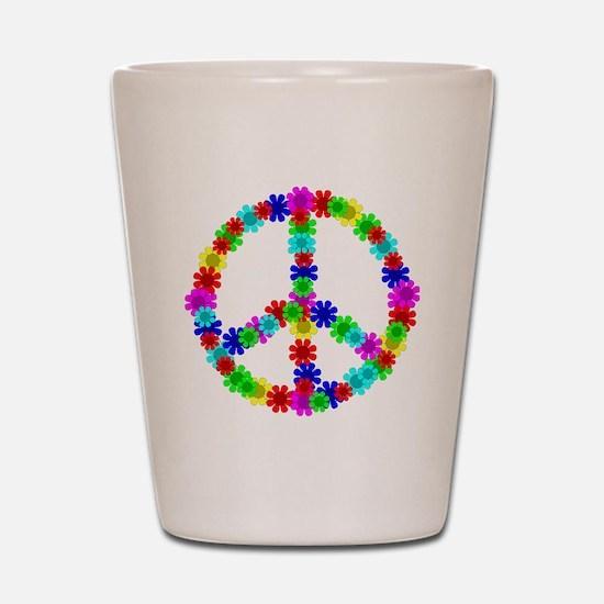 1960's Era Hippie Flower Peace Sign Shot Glass