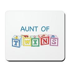 Aunt of Twins Blocks Mousepad