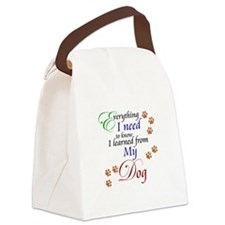 LEarned From Dog Canvas Lunch Bag