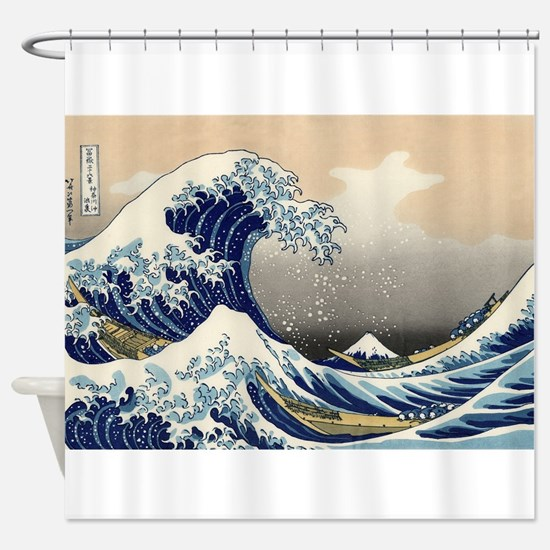 The Wave by Hokusai Shower Curtain