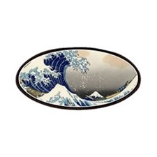 The Wave by Hokusai Patches