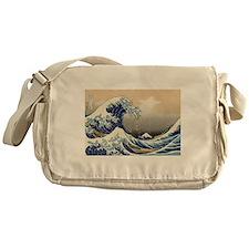 The Wave by Hokusai Messenger Bag