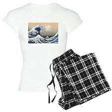 The Wave by Hokusai Pajamas
