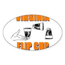 Virginia Flip Cup Oval Decal