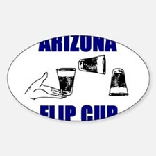 Arizona Flip Cup Oval Decal
