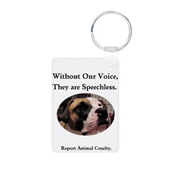 """Without Our Voice"" Keychain"