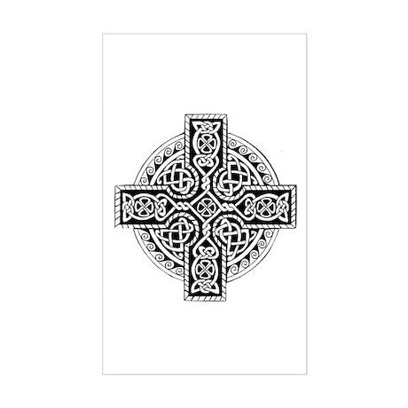Celtic Cross 19 Rectangle Sticker