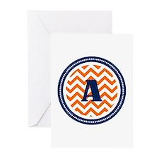 Orange & Navy Greeting Cards (Pk of 20)