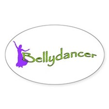 Bellydancer Purple Lime Oval Bumper Stickers