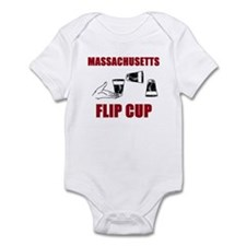 Massachusettes Flip Cup Infant Bodysuit