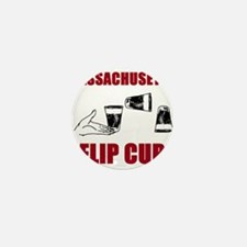 Massachusettes Flip Cup Mini Button
