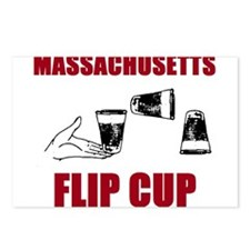 Massachusettes Flip Cup Postcards (Package of 8)