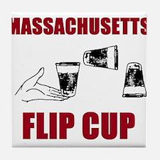 Massachusettes Flip Cup Tile Coaster