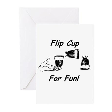 Flip Cup -- For Fun! Greeting Cards (Pk of 10)