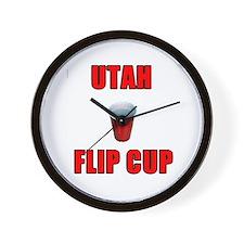 Utah Flip Cup Wall Clock