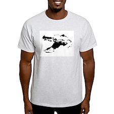 Alligator Head Ash Grey T-Shirt