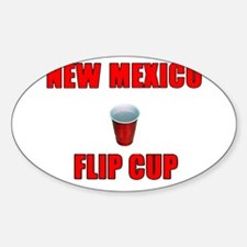New Mexico Flip Cup Oval Decal