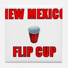 New Mexico Flip Cup Tile Coaster