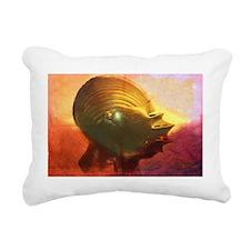 Knight Helmet Tie dye Rectangular Canvas Pillow