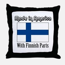 Finnish Parts Throw Pillow