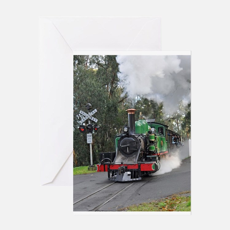 Puffing Billy at Selby Greeting Card