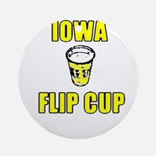 Iowa Flip Cup Ornament (Round)