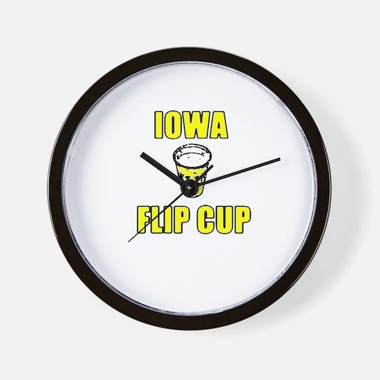 Iowa Flip Cup Wall Clock