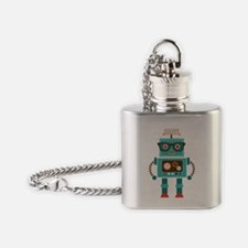 Funky Robot 5 Flask Necklace