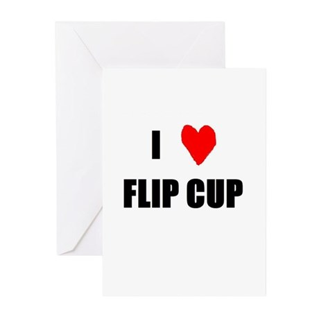 I Love Flip Cup Greeting Cards (Pk of 10)