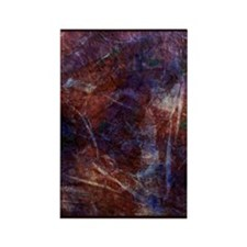 Iced Gold Abstract Rectangle Magnet