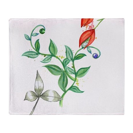 Floral Blend Throw Blanket