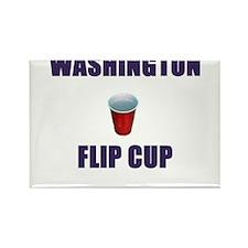 Washington Flip Cup Rectangle Magnet