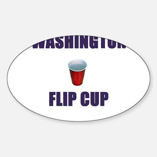 Washington Flip Cup Oval Decal