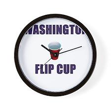 Washington Flip Cup Wall Clock