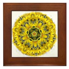 Daisy Mandala Framed Tile