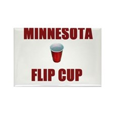 Minnesota Flip Cup Rectangle Magnet