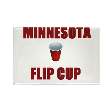 Minnesota Flip Cup Rectangle Magnet (100 pack)