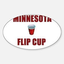 Minnesota Flip Cup Oval Decal