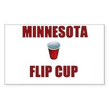Minnesota Flip Cup Rectangle Decal