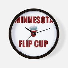 Minnesota Flip Cup Wall Clock