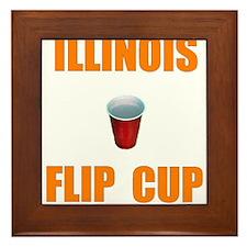 Illinois Flip Cup Framed Tile
