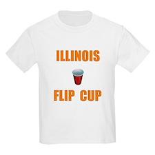 Illinois Flip Cup Kids T-Shirt